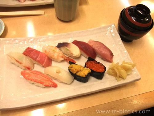 大丸のすし善で寿司(志野:2625円)を堪能(札幌旅行3)
