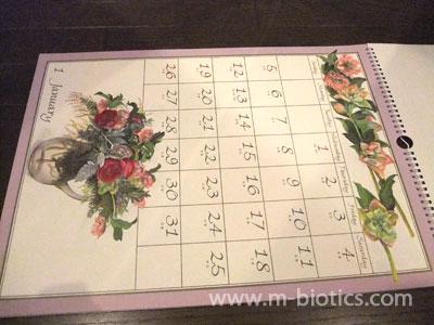 橋本不二子さんのカレンダーを購入!~綺麗な花の絵~