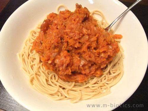 全粒粉スパゲティを消化不良にならないようゆでる方法~麺を水に「2時間~一晩」浸けておく