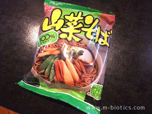 健康フーズの「山菜そば」が夜食に美味しかった【化学調味料不使用】