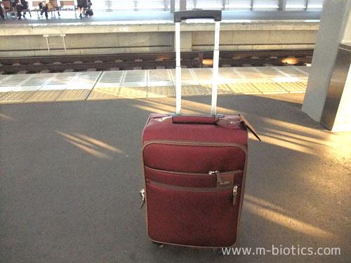 旅行でキャリーバッグ(プロテカのソリエ)を初めて使ったら、ボストンバッグに比べかなり体が楽