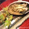 【9】あらや滔々庵の夕食(その2)~名物の鮑焼き。最後のとろろ飯が絶品
