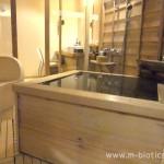 【12】あらや滔々庵、部屋の半露天風呂に入浴~源泉かけ流し、熱々の湯(64℃)