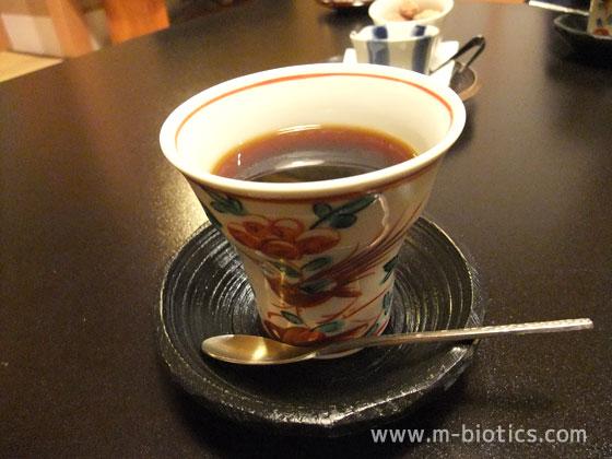 あらや滔々庵 朝食 コーヒー