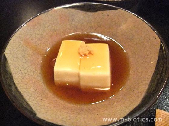 あらや滔々庵 朝食 豆腐の葛あんかけ