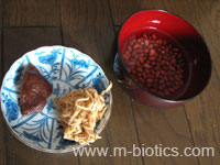 干し大根、椎茸、小豆のスープ材料-マクロビオティック料理