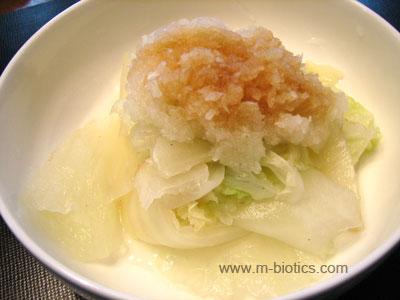 白菜のおろしおひたし マクロビオティック料理レシピ