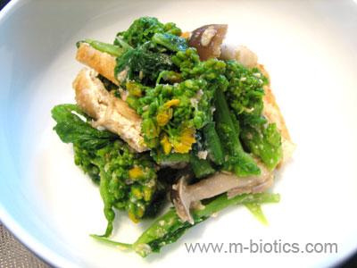 菜の花のごま味噌和え マクロビオティック料理レシピ