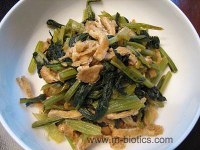 小松菜と油揚げの煮浸し マクロビオティック料理