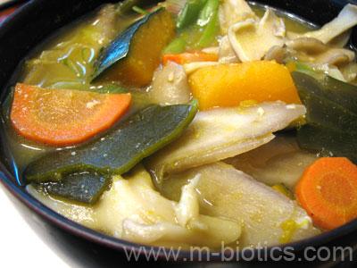 ゴボウ汁(味噌仕立てのけんちん汁) マクロビオティック料理