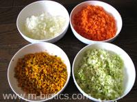 甘い野菜スープの材料切ったところ-マクロビオティック料理
