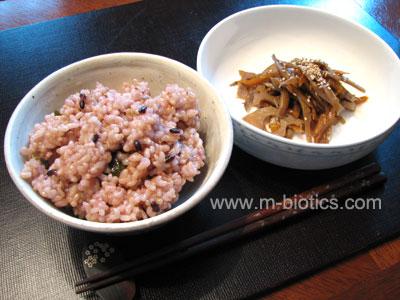 玄米ご飯のある食卓 マクロビオティック