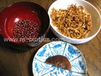 干し大根、シイタケ、アズキのスープ材料 マクロビオティック羅針盤