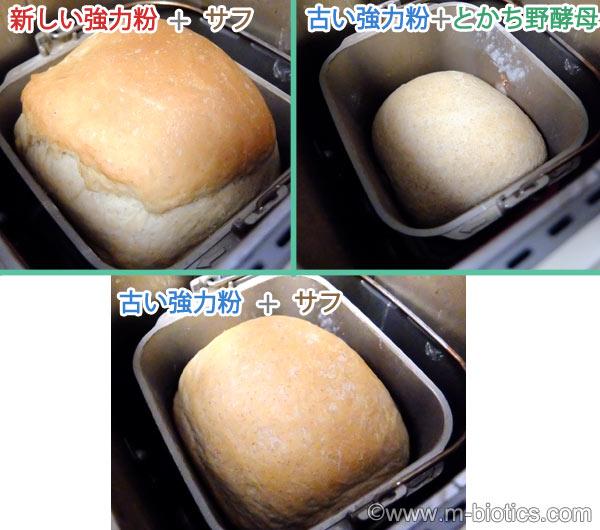 古い小麦粉 パン 膨らまない