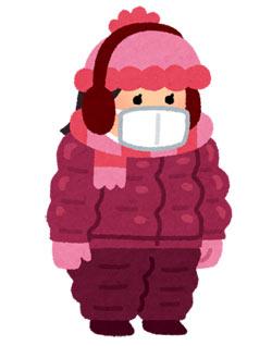 冬 着ぶくれ