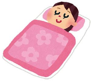 冬 寝袋を布団にかける