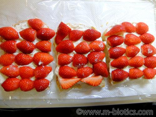 フルーツサンド 苺 レシピ