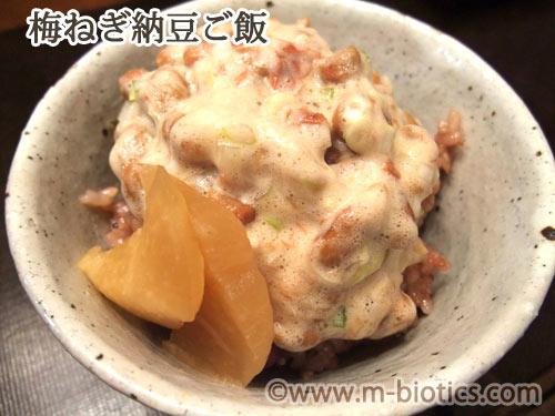 梅ねぎ納豆ご飯