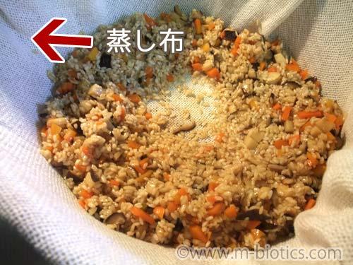 餅つき機 もち米 下蒸し式