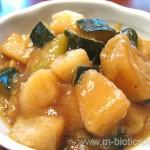 長芋とズッキーニの煮物
