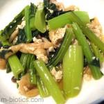 小松菜と油揚げのさっぱり中華風炒め煮