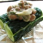 たたききゅうりの梅味噌納豆のせ