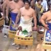 【大相撲】遠藤の化粧まわしが北海道ご当地っぽい(クマ、時計台)【2015.11九州場所】
