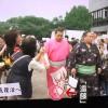 【大相撲】遠藤が新しいピンクの着物を披露~永谷園マーク入り【2014.7名古屋場所】