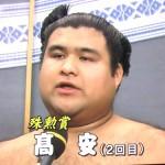 【大相撲】九州場所で個人的に注目だった力士は「髙安」。若手ホープとして期待【2014】