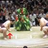 【大相撲】遠藤、立ち合い直前の手首ストレッチ「猫手回し」【2014.5夏場所】