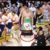 【大相撲】遠藤の化粧まわしが裾を引きずるくらい長い~スーパーロング遠藤【2015年春場所】
