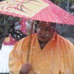 【大相撲】雪の中、遠藤が番傘を差して場所入り~寒くても手袋をはめない力士らしい勇姿【2018.1初場所】